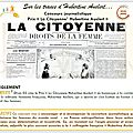 Sur les traces d'hubertine auclert… dfam 03 lance un concours journalistique prix « la citoyenne hubertine auclert »c'est parti!