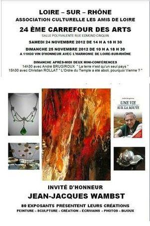 CARREFOUR DES ARTS - LOIRE SUR RHONE - 24 & 25 NOVEMBRE 2012