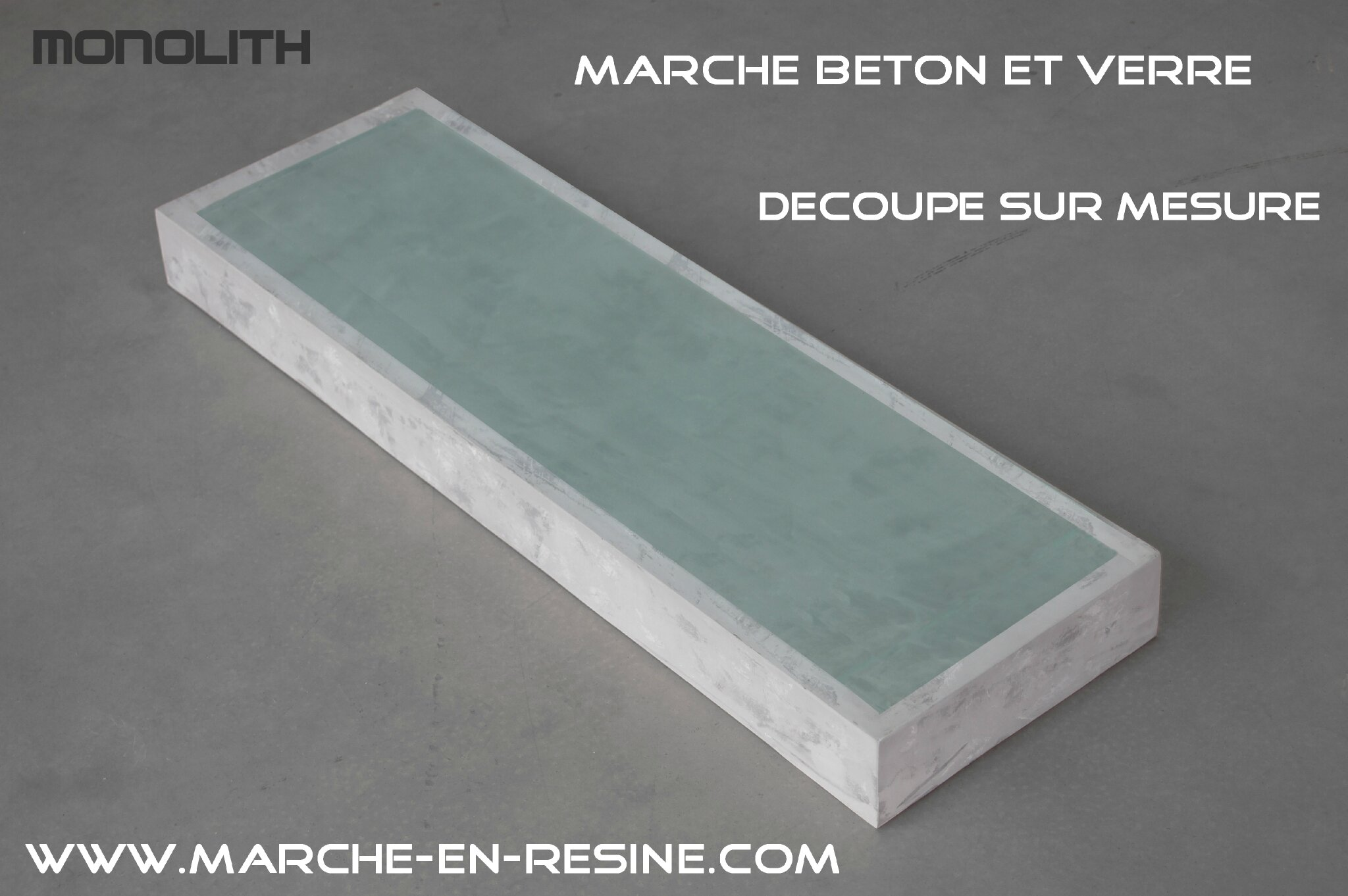 monolith is a compagny offer a range of concrete matt black gray with fine texture resin steps or matt colors with