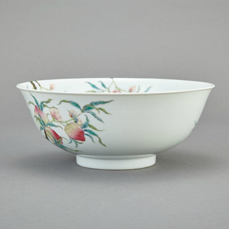 Chinese Famille Rose Enameled Porcelain Bowl, Qing Dynasty1