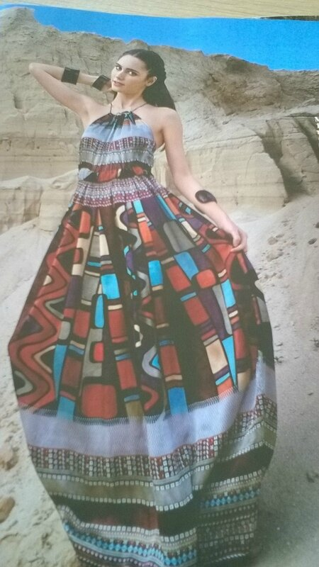 Burda robe africaine