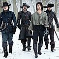 The new bbc america series the musketeers, premiering in 2014.