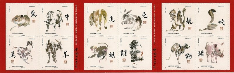 Carnet 12 signes astro chinois France 2017 V