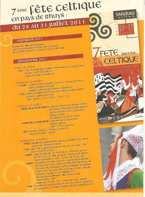 7 me f te celtique en pays de rhuys en 2011 les passions de xavier et st phanie - Sarzeau office de tourisme ...