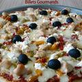 Pizza au poulet, poivrons et chèvre frais