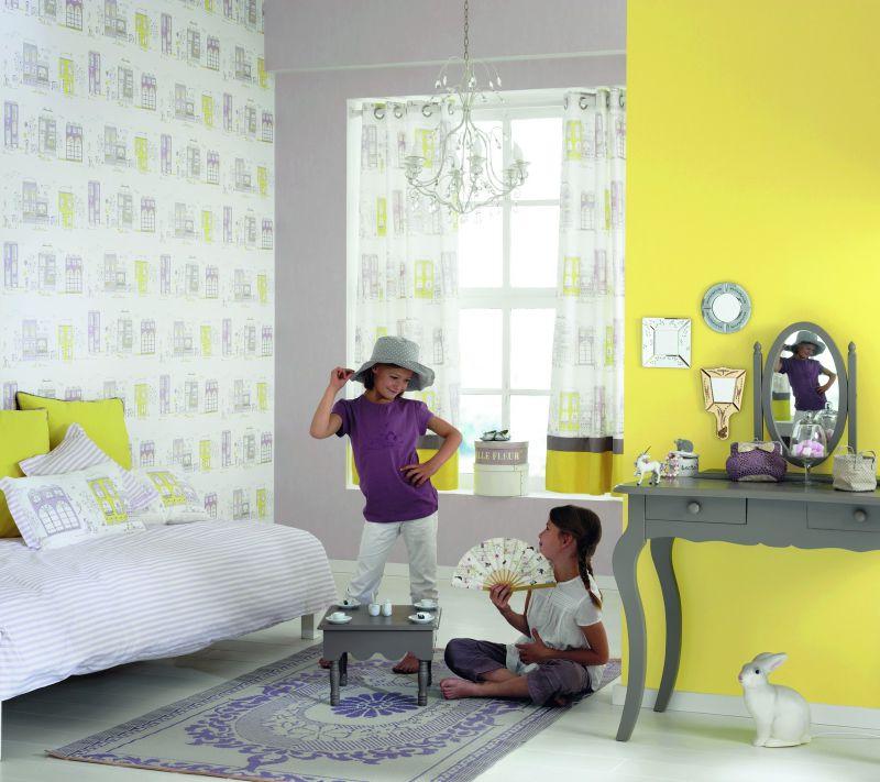 Decoration Chambre Rouge Noir Et Blanc :  chambre – rideau chambre petite fille  rideau à oeillets chambre