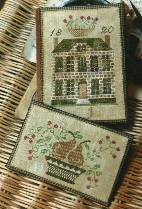 boxwood manor sewing book & thread keeper