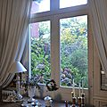 Rdc : double réception, petit salon, cuisine et office