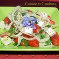 Salade pimpante de fraises, fenouil, & chvre frais