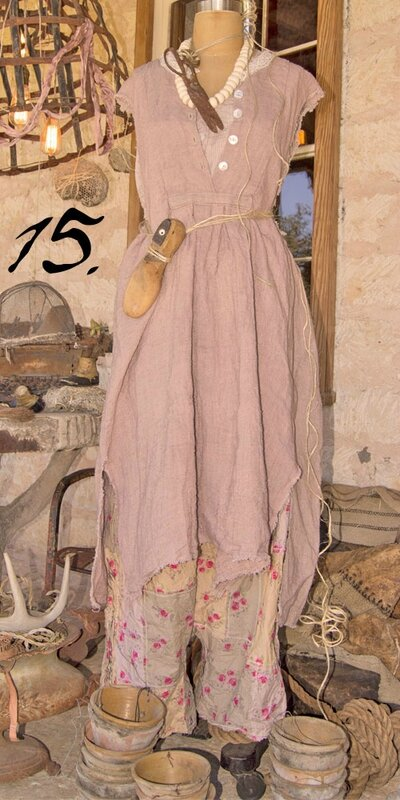 MP linen dove rose lavendle dress
