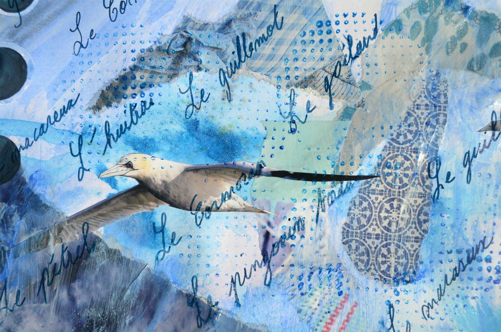 art journal sur le thème des animaux marins