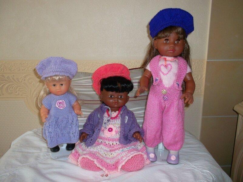 Joséphine, Samantha, Margot avec les acsquettes de Louise