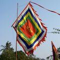 drapeau d'une pagode à Hoa Lu