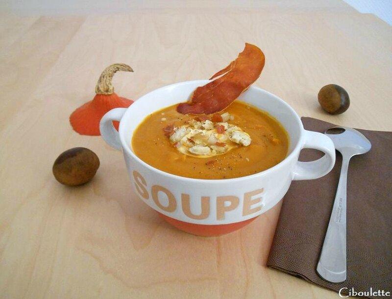 Soupe au potimarron & aux châtaignes 1