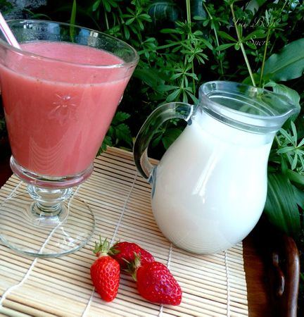 Smoothie fraise lait avoine 2