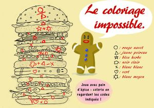 coloriage impossible copie