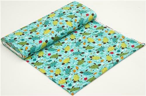 turquoise-turtle-animal-fabric-by-Robert-Kaufman-USA-172558-3