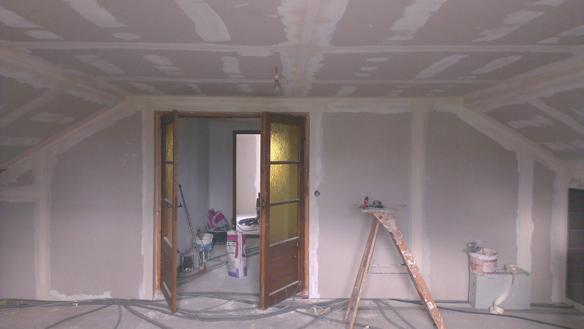 isolation des combles en rampant sur plafond suspendu doublage des mur ext rieur et habillage. Black Bedroom Furniture Sets. Home Design Ideas