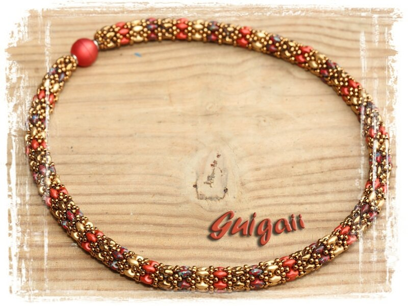 n°257 Collier Daydreamrope rouge_or1