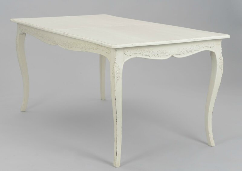 table blanche 160 cm louise