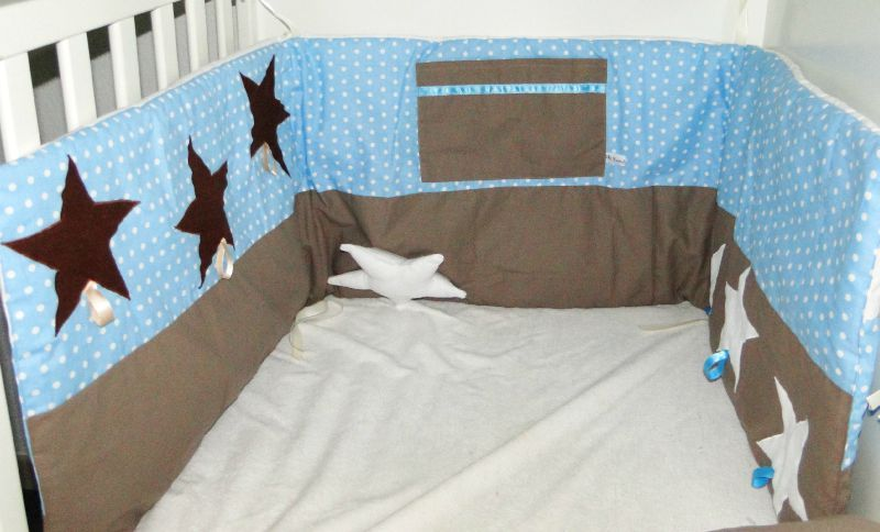 tour de lit turquoise et taupe kasmiliecreation. Black Bedroom Furniture Sets. Home Design Ideas