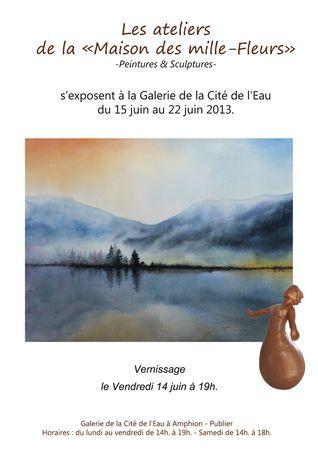 Affiche A4 expo des Mille-Fleurs
