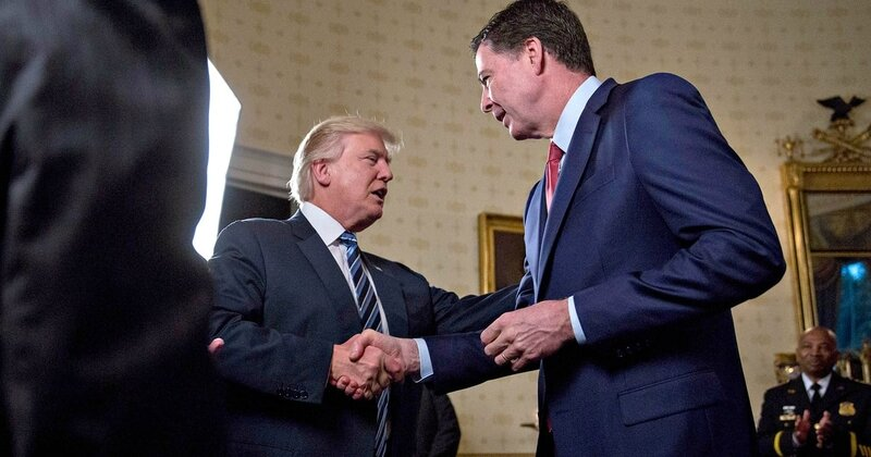 Donald TRump with james Comey