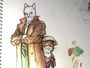 BlackSad aquarelle WIP1