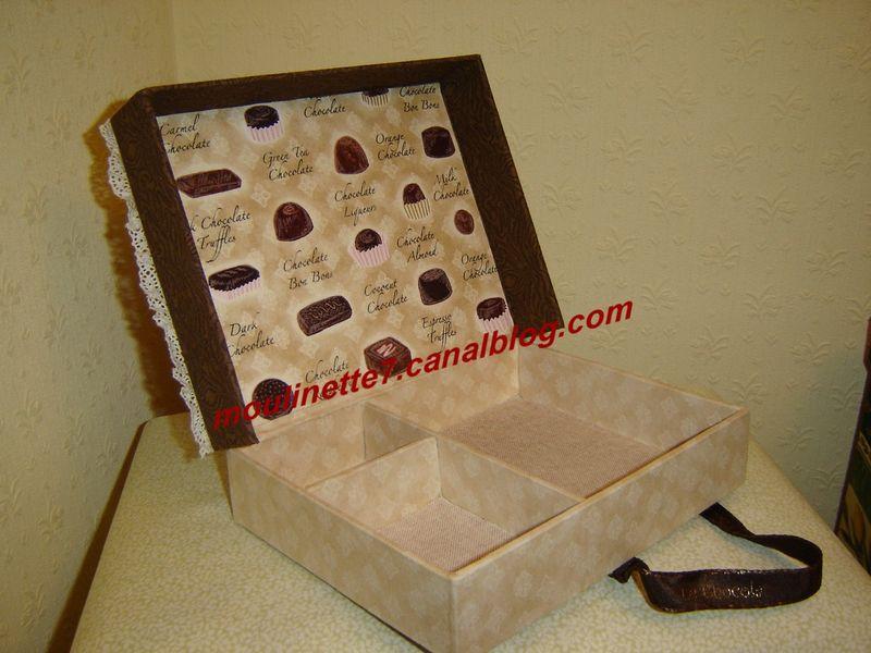 Boîte à bijou chocolat 20x15cm hauteur 4,5cm