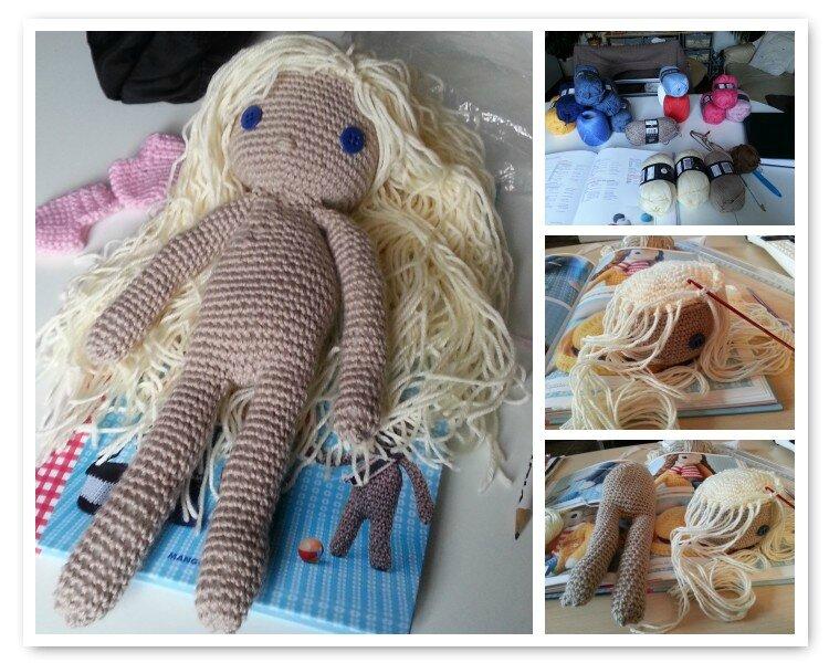 mosaïque poupée Léa corps tête et cheveux 29 04 2014
