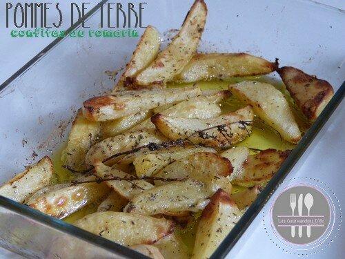 Pommes de terre confites au romarin du chef F. Anton