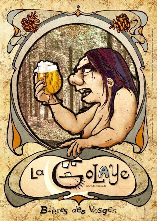 Affiche de « La Golaye » réalisée par une amie des brasseurs