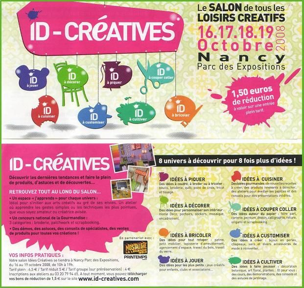 Salon id cr atives nancy clo 39 s bricolages - Salon id creatives ...