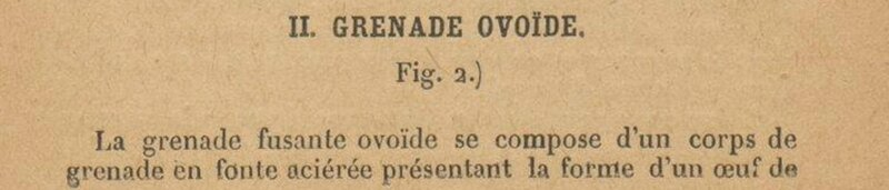 grenade ovoide oeuf