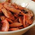 Pour l'apéro: crevettes de sept-îles sans chichis!