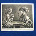 Burin gravé par Claude Donat Jardinier d'ap. le Valentin -P1250096