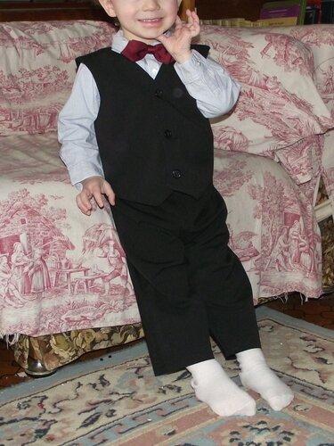 ensemble gilet pantalon noir Charles 2 ans 1