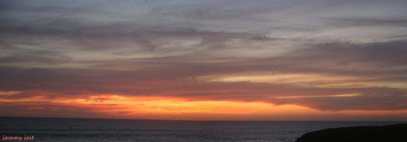 coucher de soleil à St-Pierre , île de la Réunion