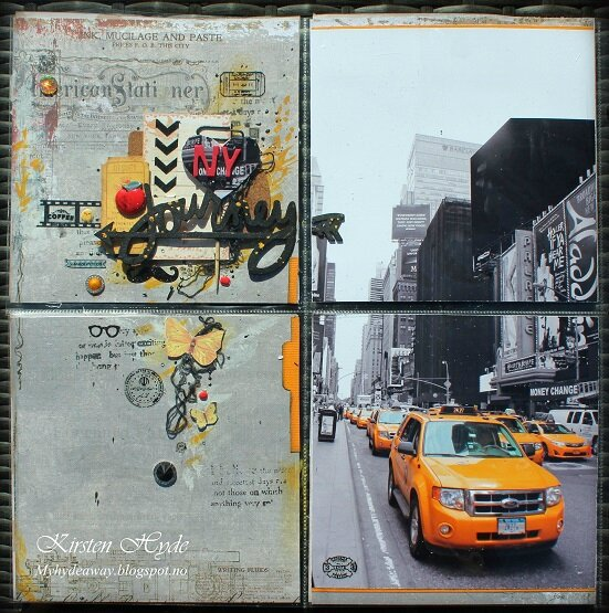 Project life page yellow cab new york 1