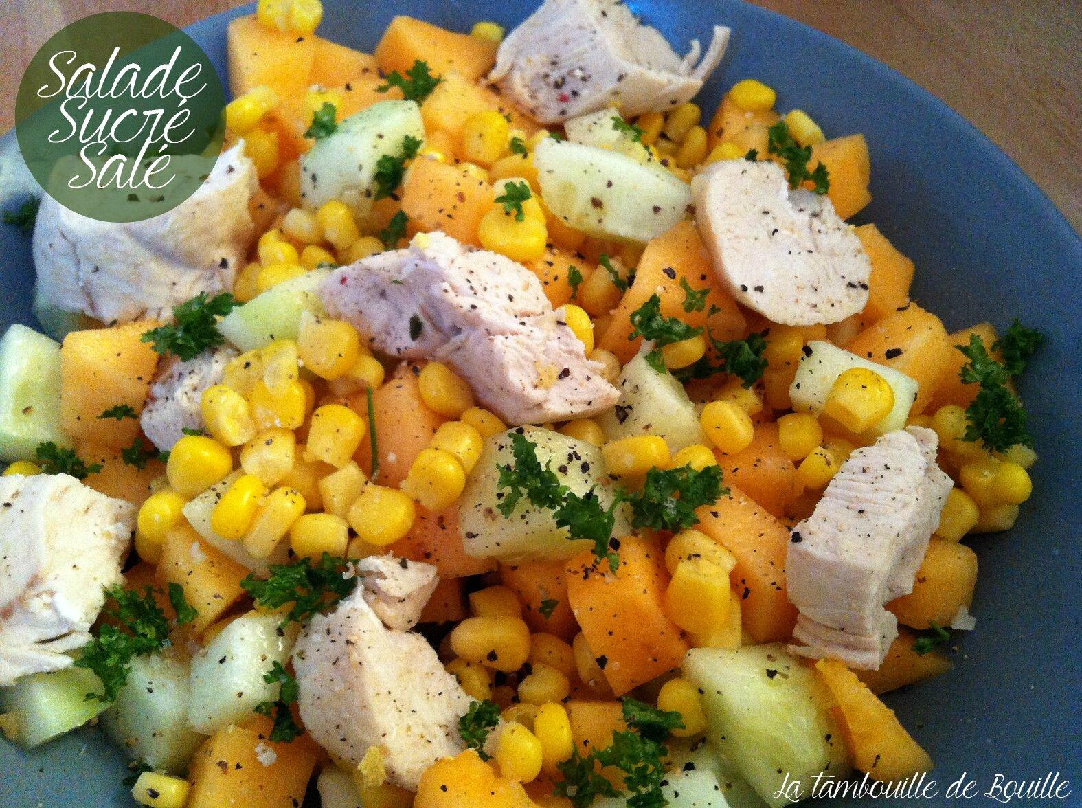 Salade sucré salé, melon et concombre pour avoir encore la tête en vacances