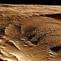 mars - chenal sur la planète rouge