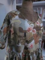 Robe RAYMONDE en coton imprimé ''l'atelier couture'' - manche raglan - longueur genoux - taille unique (6)