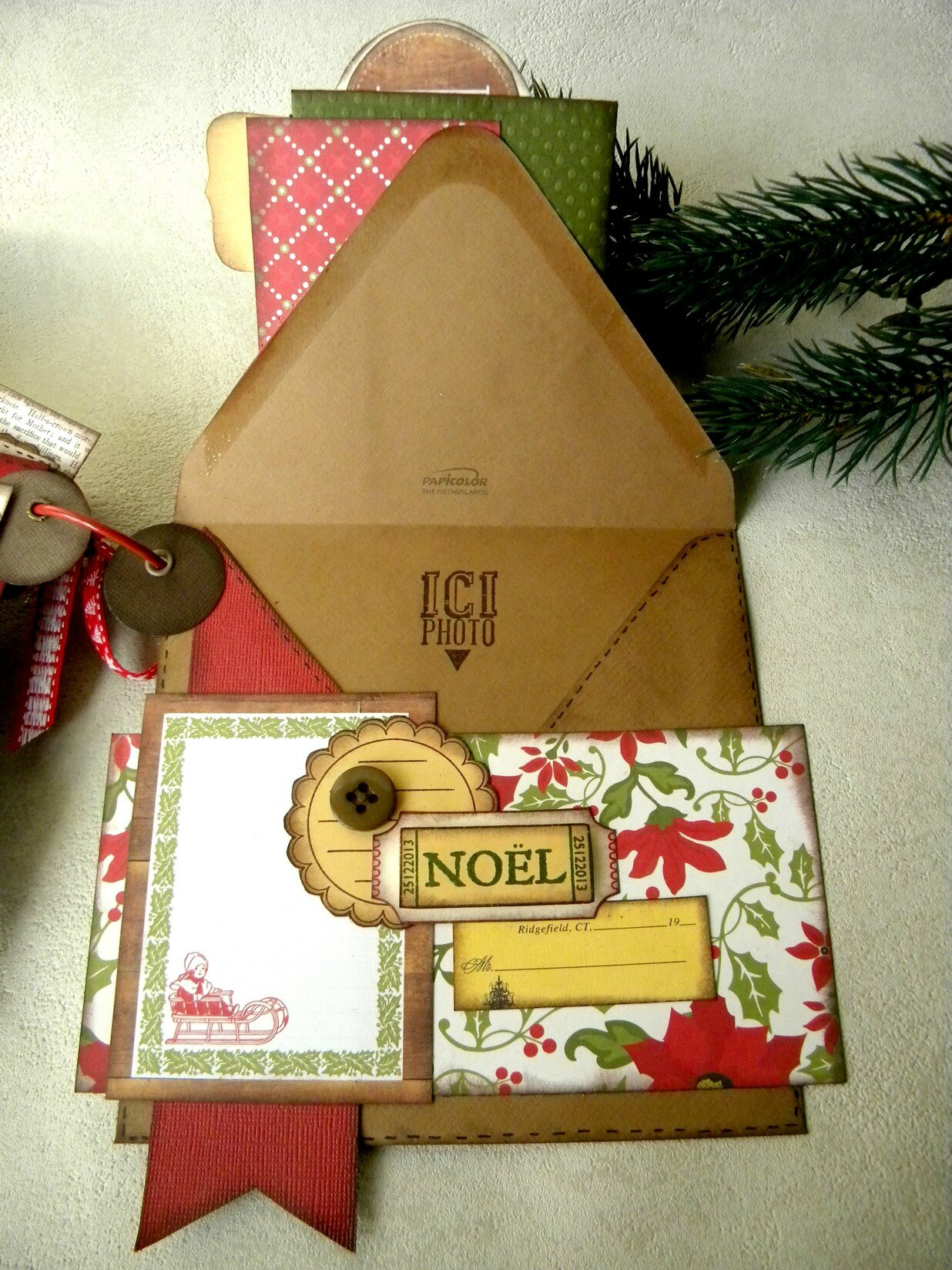 album enveloppes de noel en echo park la pause en scrap de caroline60. Black Bedroom Furniture Sets. Home Design Ideas