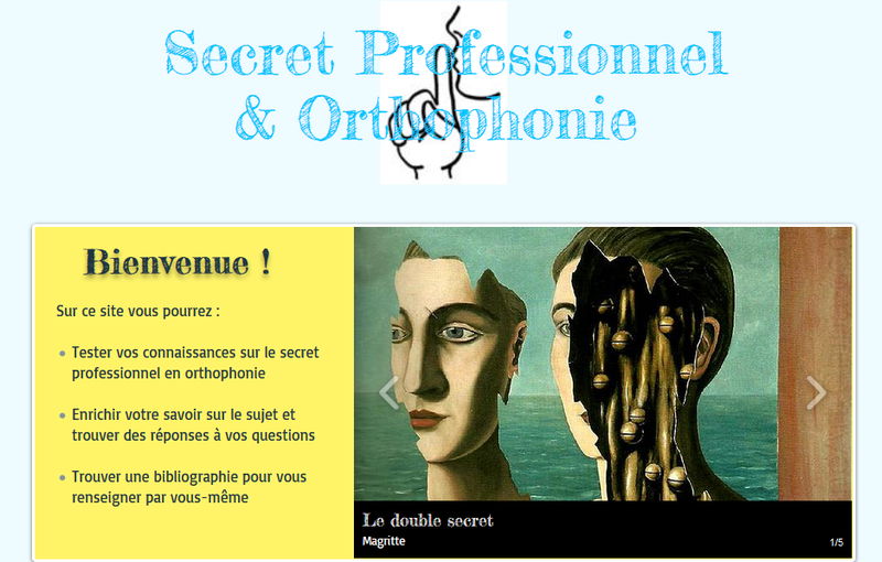 Secret et orthophonie