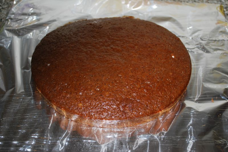 Gateau au chocolat avec jaune d'oeuf