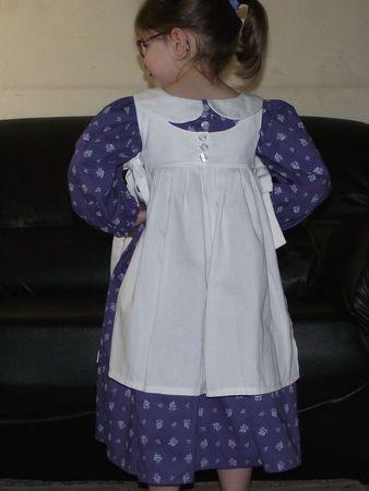 Robes Meg violet & blanc portées 5