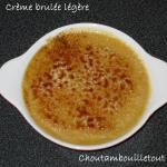 crème brulée légère