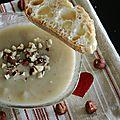 Velouté de panais aux noisettes, lait de coco et garam masala
