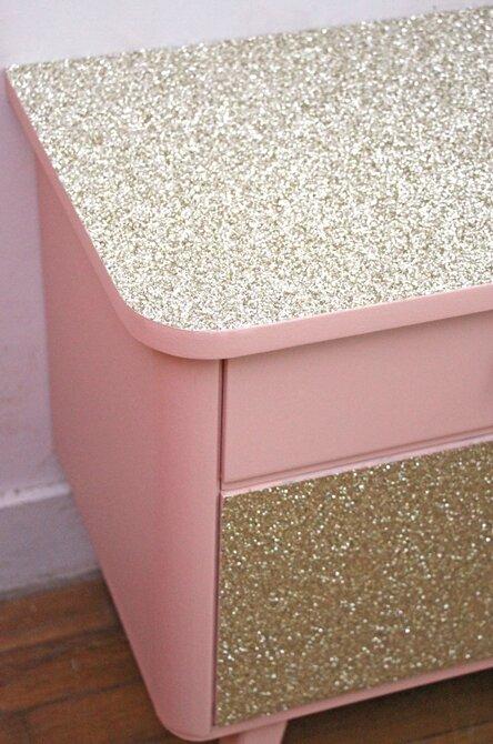 chevet-vintage-glitter-detail