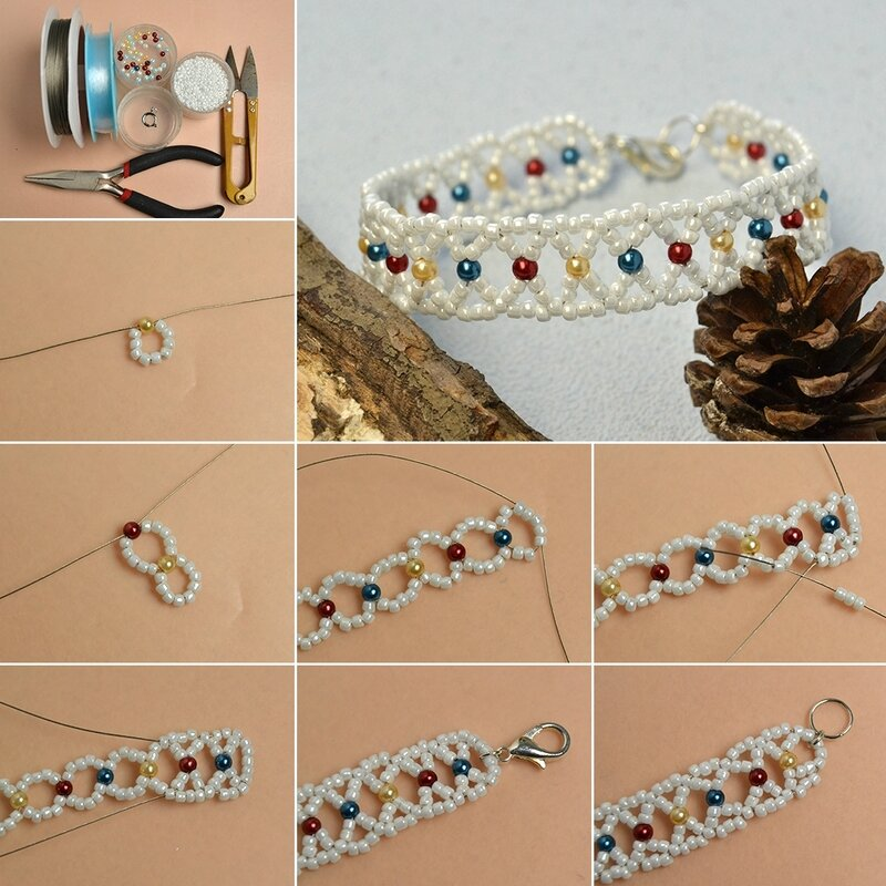 1080-Pandahall-Tutorial-on-How-to-Make-Handmade-Seed-Beads-Bracelet-with-Colorful-Pearl-Beads